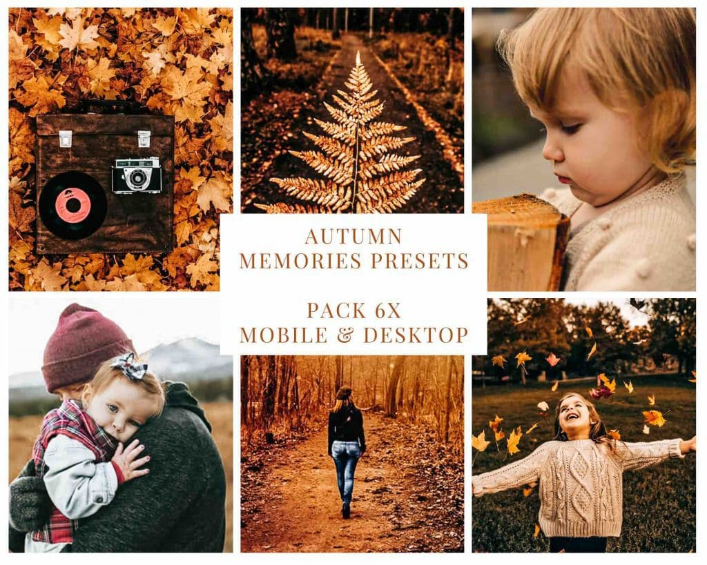 Digitale presets voor herfstfoto's