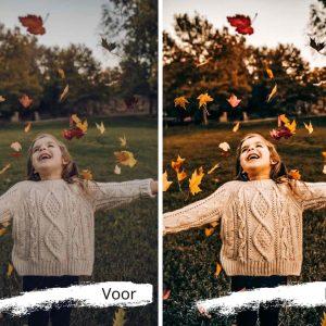 mooie smartphonefoto's dankzij de lightroom herfst digitale fotofilter