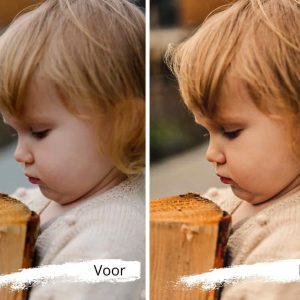de mooiste kinderfoto's in de herfst dankzij een digitale preset voor jouw smartphone