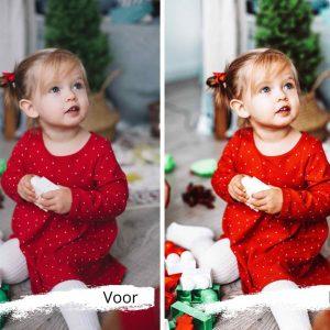 fotofilter voor kerstfoto's en kerstkaartje