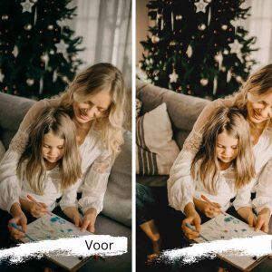 bewerk je foto's met een fotofilter voor kerstfoto's en kerstkaartje